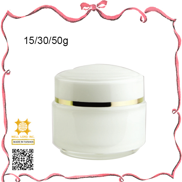 Solid colored multiple capacity 50g cosmetic cream jar