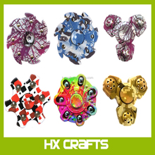 Camouflage Hand Spinner Seven Flap Plastic Iron Hand Spinner Steel Bearing For Autism ADHD Anxiety Stress Toy