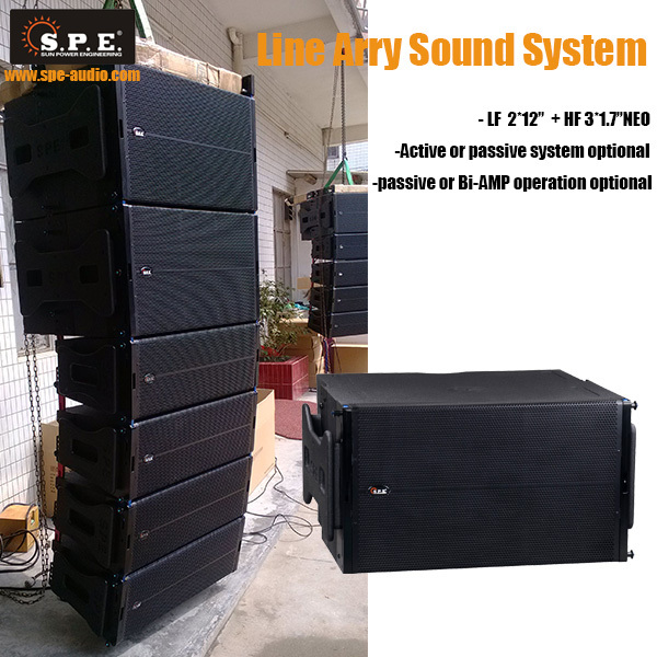 SPE AUDIO LA-6 line array speaker system 2*12 inch line array for sale