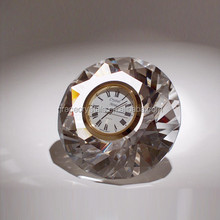 Optical small table clock diamond crystal clock