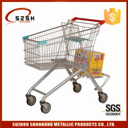 European foldable shopping bag market trolley
