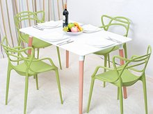 Fashion 3v Plastic Chair with Top Quality and Factory Price Vine Shape Plastic Chair T822-01