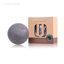 Organic Konjac Natural Activated Charcoal Konjac Sponge For Skin Care