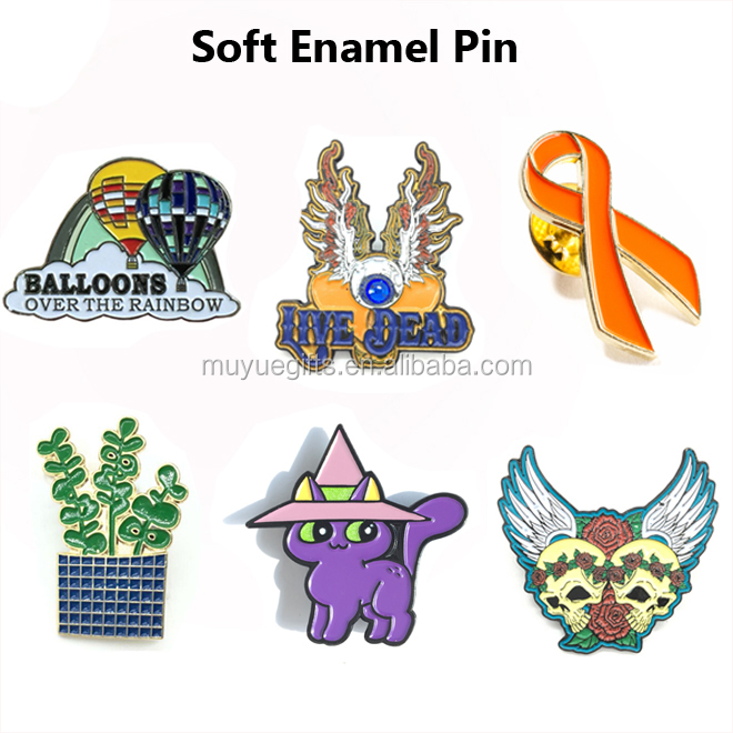 OEM promotional cheap custom soft Enamel metal badge