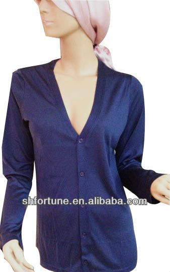 2013 women's fashion knitted spun silk blouse,comfortable and classical.
