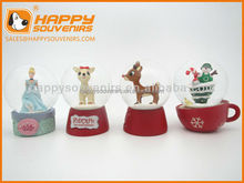 Custom cartoon home decoration craft 30mm mini snow globe