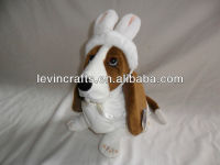 LE h1514 hush puppies basset hound plush easter toy