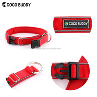 Personalized Brand Rubbers O-ring Style Reflective strips Nylon Pet Collar Dog Buckle