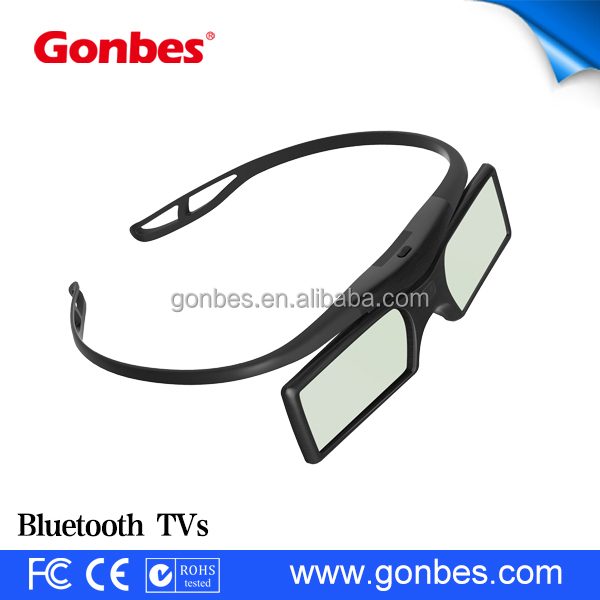 cheap detachable Button Battery active shutter 3d glasses for TV