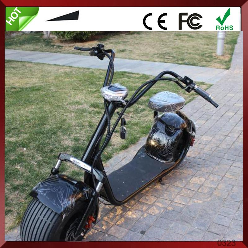 2016 new products big two wheels citycoco 1000W 60V electric scooter,electric motorcycle