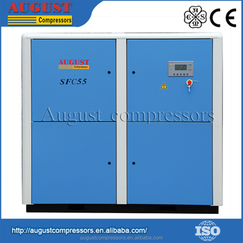 CE Approved 55KW 75HP 7 bar AUGUST Screw Electric AC Power Compressor