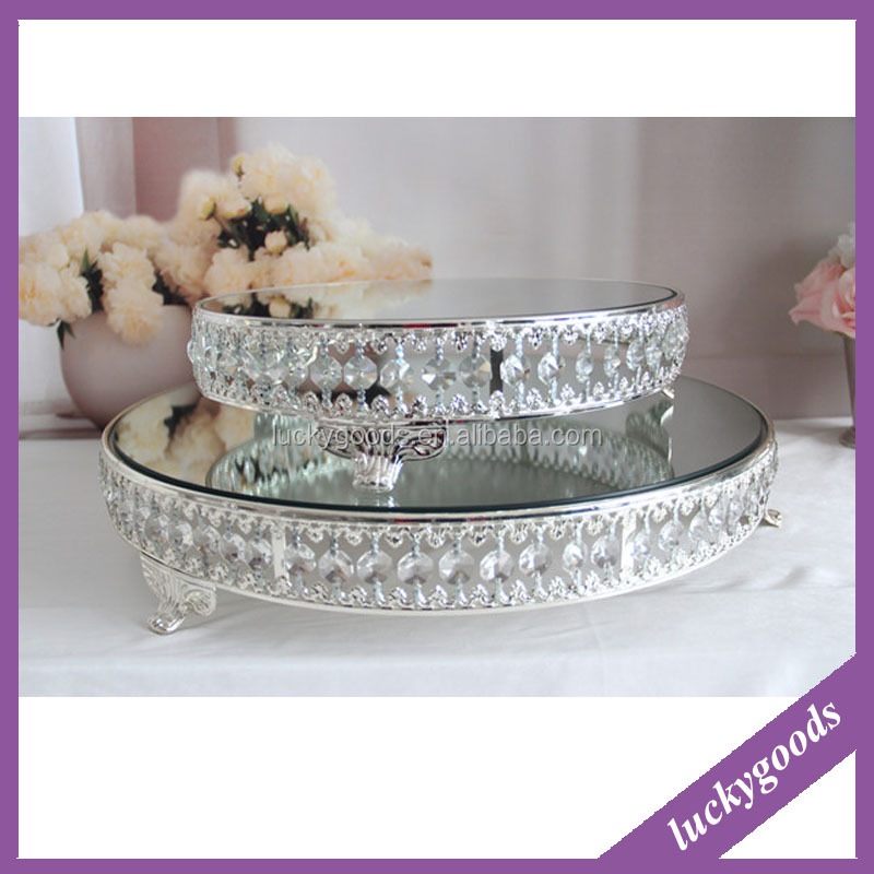 popular selling round shape wedding cake stand crystal for decoration