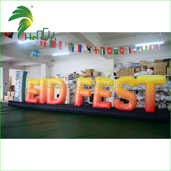 Factory Direct Sale Yellow Letters Inflatable Model , Inflatable Letter Replica For Sale