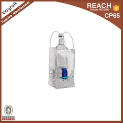 PG325 High Quality PVC Clear Plastic Ice Cube Bag For Wine
