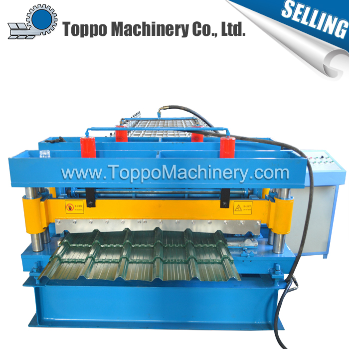 NEW CE Heibei aluminium roof roll forming step tiles machine
