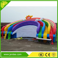 Water park inflatable floating water slide for adult