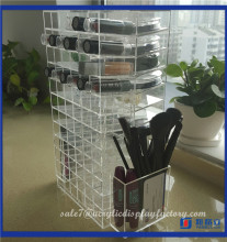 2016 acrylic luxury jewelry display stand acrylic mac lipstick box/acrylic lipstick holder