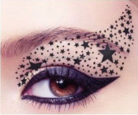 Makeup smokey eyeshadow tattoo sticker eyeliner tattoo