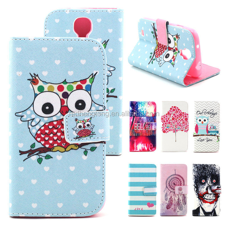 Wholesale Flip Wallet Leather Case Mobile Phone Cartoon Case Cover for Samsung Galaxy S4