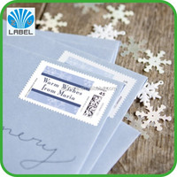 China direct manufacture custom printing color address labels