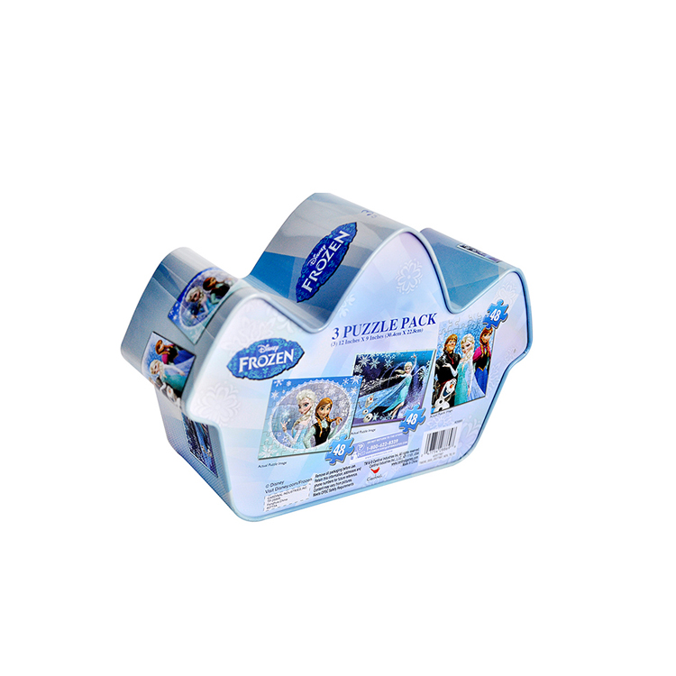 biscuit house tin box for customization