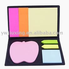 self-adhesive sticky note pad with pu cover