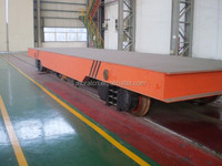 Electric rail flatbed vehicles for metallurgy industry