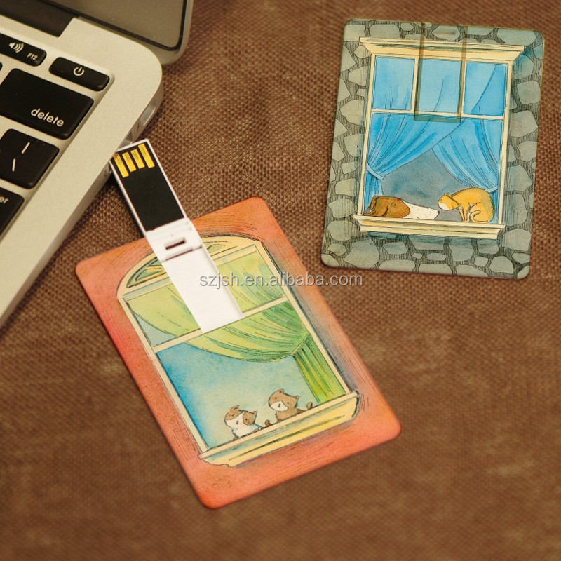 Business Credit Card USB flash drive2GB 4GB 8GBCustom Logo Card shaped USB Key plastic Waferproof USB pendrive 16GB