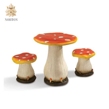 garden furniture outdoor fiberglass mushroom table for sale NTRS-CS585X