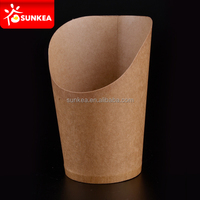 High-quality paper fry scoop cups, custom printed disposable hot chip scoop paper cups