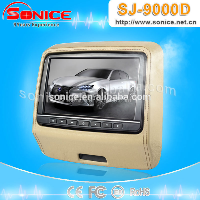 9inch headrest dvd car monitor with HDMI input (clip-on)