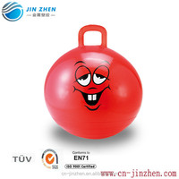 kids play inflatable pvc jumping ball with handle