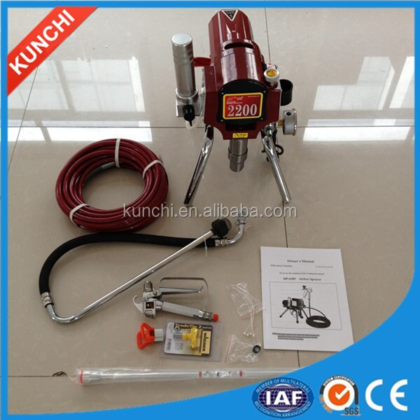 Popular export high pressure airless emulsion spray gun with high quality and factory price