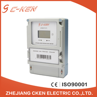 Cken Hot Sale 3X220/380V 50Hz LCD Three-Phase Four Wire Electrical Meter Prepaid Kwh Meter Price , 3 Phase 4 Wire Prepayment