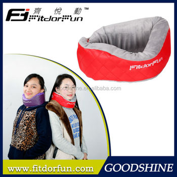 2015 New Product High Quality Patented Colored Adjustable Plush Neck Cushion