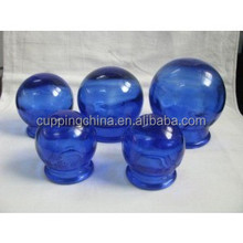 Traditional Chinese Cupping Handmade Five Color Glass Cups Set Fire Cupping set