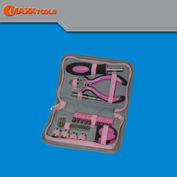 Portable tool bag,20pcs promotion pink tool set for women