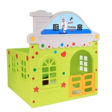 JQ wholesale Lovely theme plastic indoor playhouse for kids