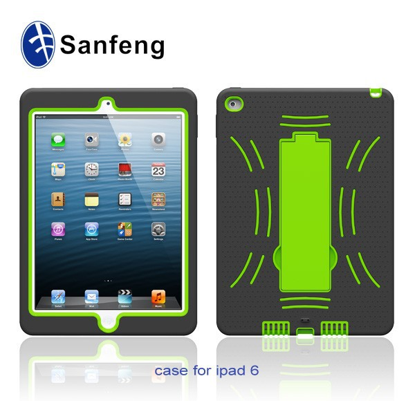 2015 New PC+Silicone Soft Phone Skin Cover for Apple iPad Air