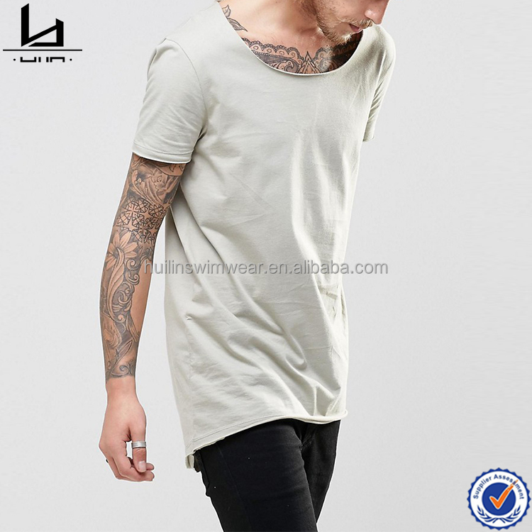 plain blank men t shirt blank customize printing jersey long line t shirt