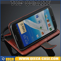 5.5' luxury Folio PU material flip cover with card holder slot stand Wallet Leather Case for Samsung Galaxy Note 2 N7100