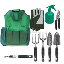 9 Piece Garden Tools Set With Bag including Pruning Tool
