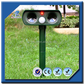 2016 China Supplier Animal Solar Powerful Cat&Dog Pest Repeller Ultrasonic Pest Control For Outdoor Use