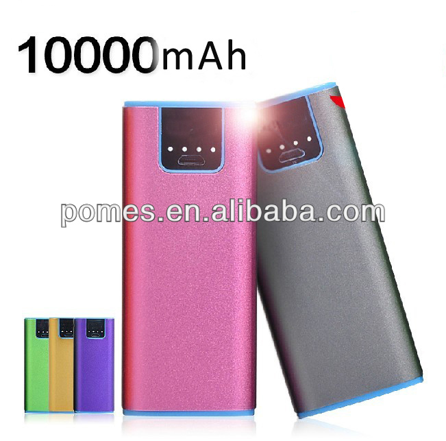 Colorful Rectangular prism shape mobile power 10000mah for all digital device