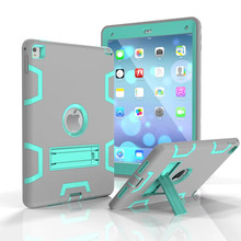 Newest popular fashion product silicon pc hybrid anti-shock defender case for iPad pro