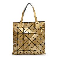 New York Personality Luxury Pu Women Fashion Shoulder Bag Geometric Plaid Folding Bags Wholesale Famous Brands Ladies Handbags