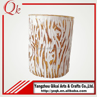factory wholesale decorative glass candle holder cup with nice looking