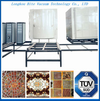 pvd mosaic glass tiles gold color chrome ion spraying production line/mosaic glass tiles cathode plasma coating machine