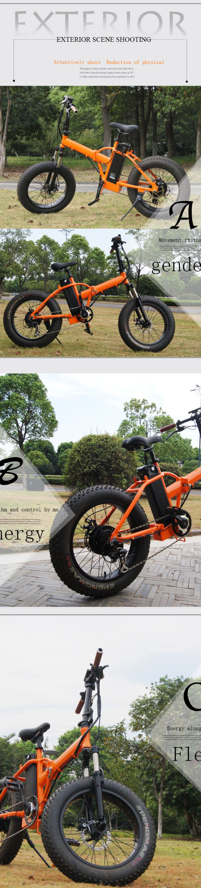 SR20B electric bike/bicycle fat tire e-bike with foldable bike frame