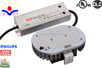 Free shipping DLC UL 100W led retrofit kits conversion lighting 400W metal halid or HPS replacement